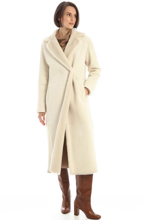 Long sheepskin coat Intrend