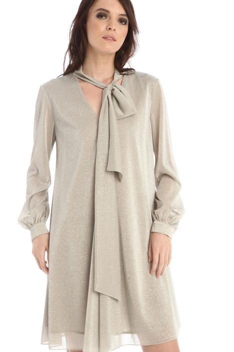 Lurex scarf neck dress Intrend