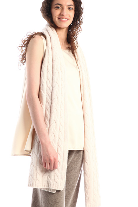 Wool and cashmere knit scarf Intrend