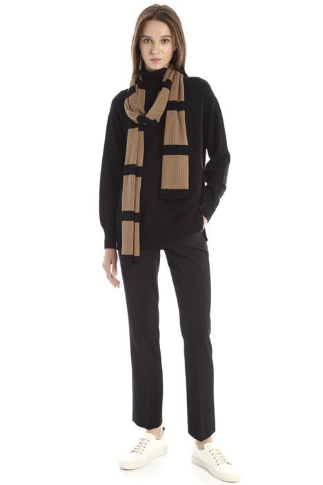 Sciarpa in jersey di lana Intrend