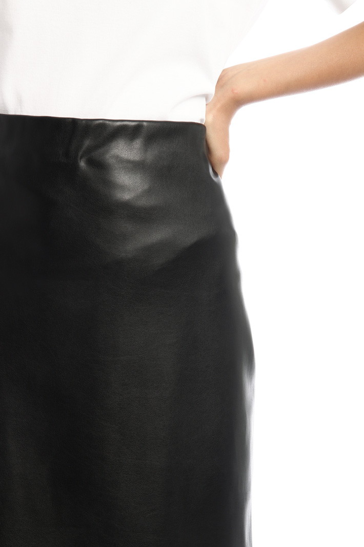 Leather-look jersey skirt Intrend