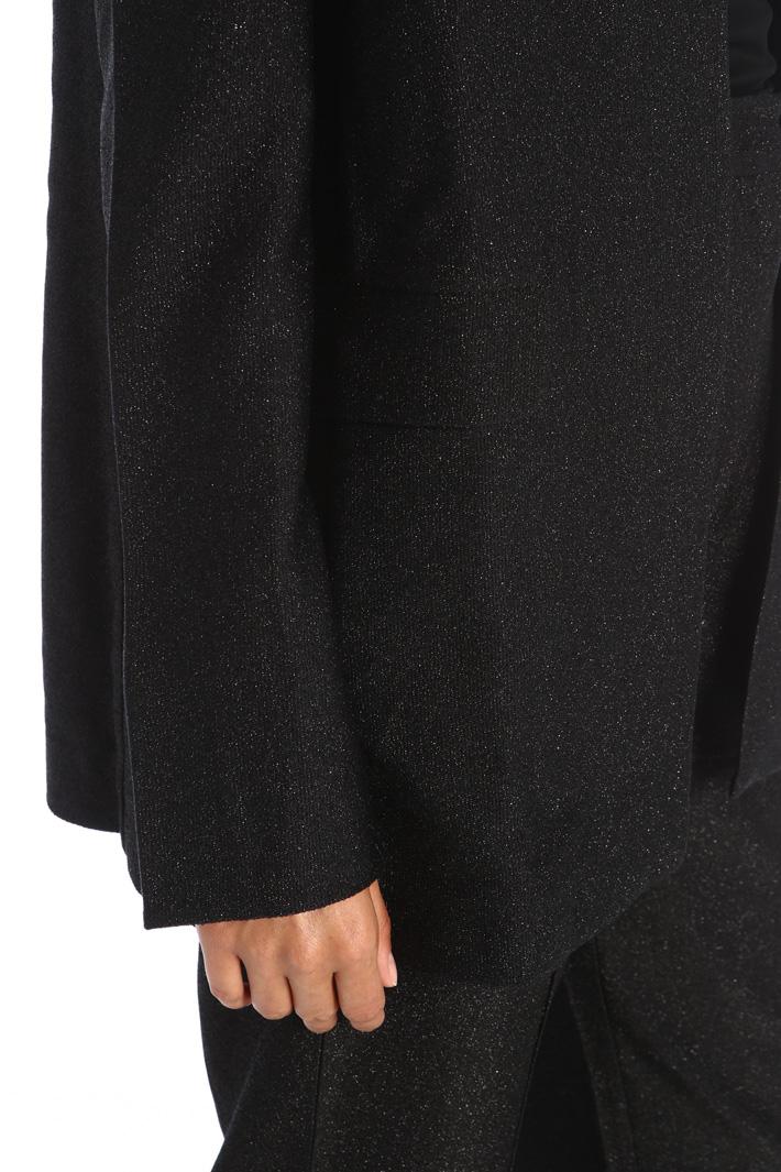 Lurex jersey blazer Intrend