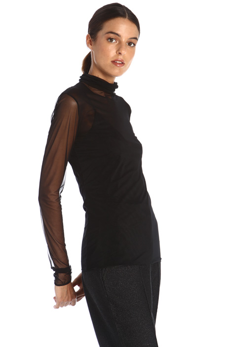 Tulle jersey top Intrend