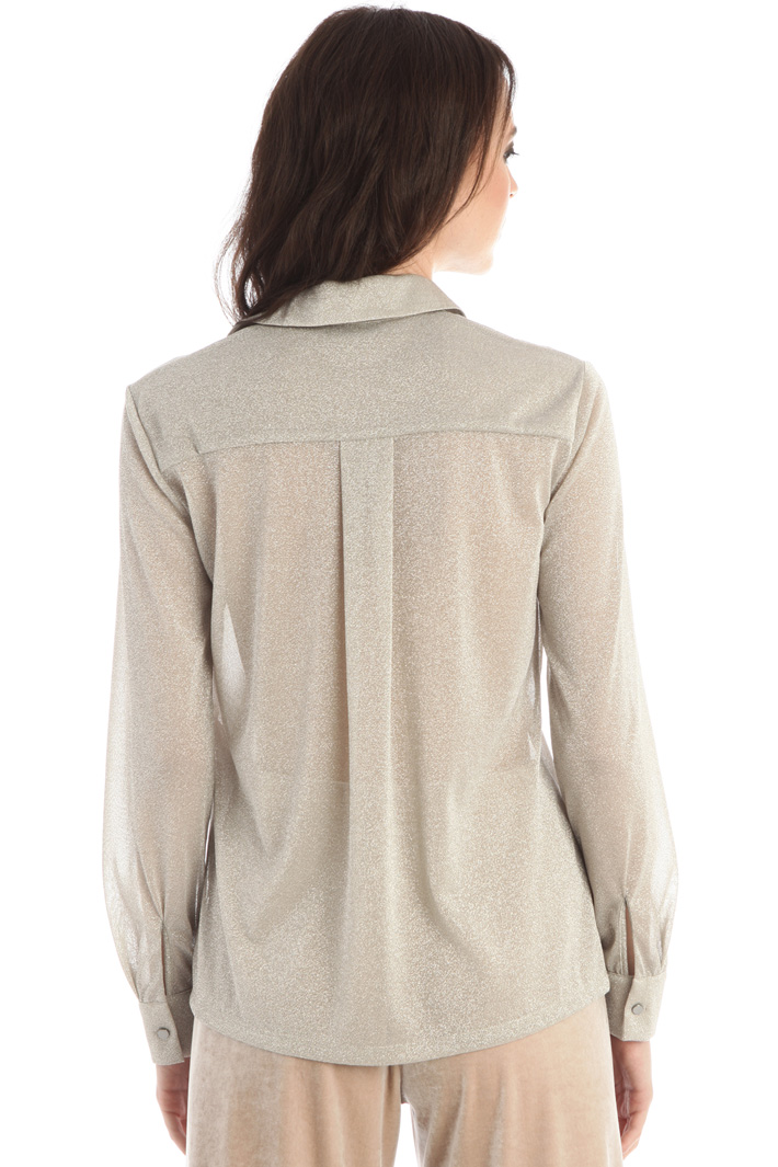 Lurex jersey blouse Intrend